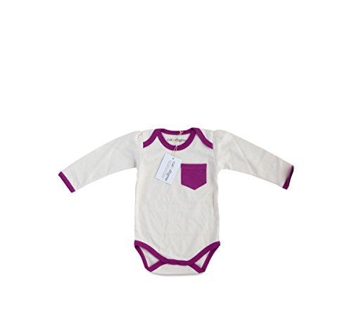 Cat & Dogma - Certified Organic Infant/Baby Clothing Bodysuit - Orchid - Long Sleeves - (0-3 (Halloween Bunny Makeup)