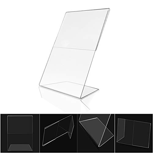 Acrylic 4x6 Sign Holders Picture Frames in Bulk (12 Packs ) Vertical and Horizontal Slanted