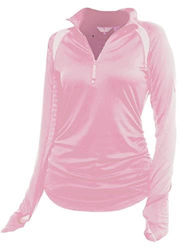 Womens Technical Mock Shirt - Goode Rider Heavenly Shirt S Pink