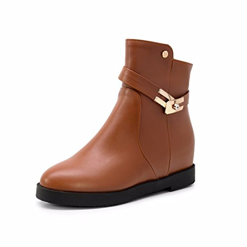 RFF-Women's Shoes Women in autumn and winter increase Martin boots with big yards and short boots Brown s6plfF0bgF