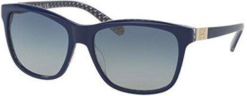 Tory Burch Women's TY7031 Sunglasses Navy/Blue Zig Zag / Blue Gradient - Sunglasses Blue Navy
