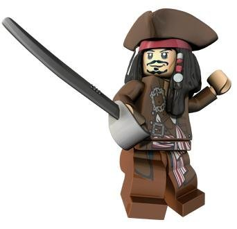 Captain Jack Sparrow (Hat & Jacket) - LEGO Pirates of the Caribbean Minifigur (Captain Jack Sparrow Jacket)