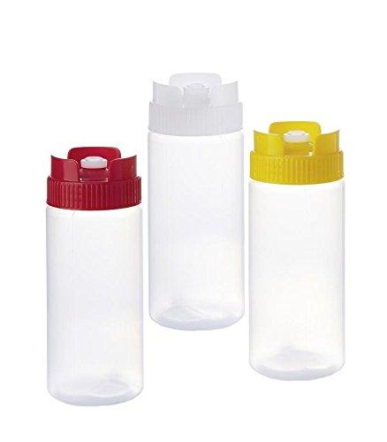 Kerafactum® - 3 Quetschflasche Dosierflasche Squeezebottle Majoflasche Flasche bottle Dosierer 0,47 ml Mix