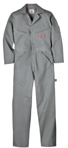 Dickies Men's Deluxe Cotton Coverall, Gray, X-Large Regular