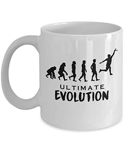 (Ultimate Evolution Funny Cool Human Stages Silhouette Parody Coffee & Tea Gift Mug, Stuff, Ornament, Accessories And Desk Decor For Ultimate Frisbee Game Men & Women Players)