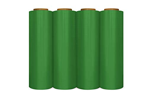 - 12 Rolls Tinted Green Hand Pallet Wrap Plastic Stretch Film 18