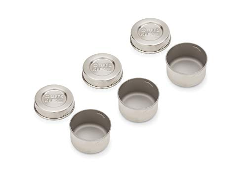 Bits Kits 20804 Stainless Steel, Condiment Containers, Metallic