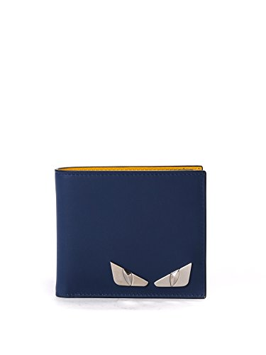 fendi-mens-7m0169o75f07t2-blue-yellow-leather-wallet