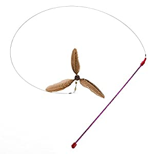 GoCat Da Purr-Peller Cat Toy, A Feather Propeller That Spins as it is Guided Through The Air 59