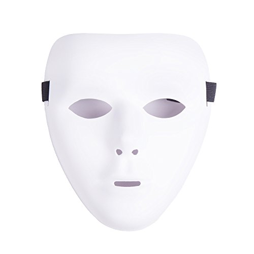 White Mask Halloween (Jabbawockeez Hip-hop Mask for Halloween Cosplay Costume Party - White)