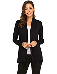 f099eb45d09 Womens Casual Lightweight Long Sleeve Cardigan Soft Drape Open Front Fall  Dusters (S-3X