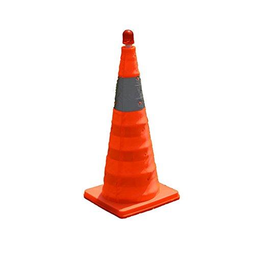 (LSERVER Portable Extendable Folding Roadblock Reflective Safety Cones LED Flashing Car Warning Sign 3 sizes 17.7