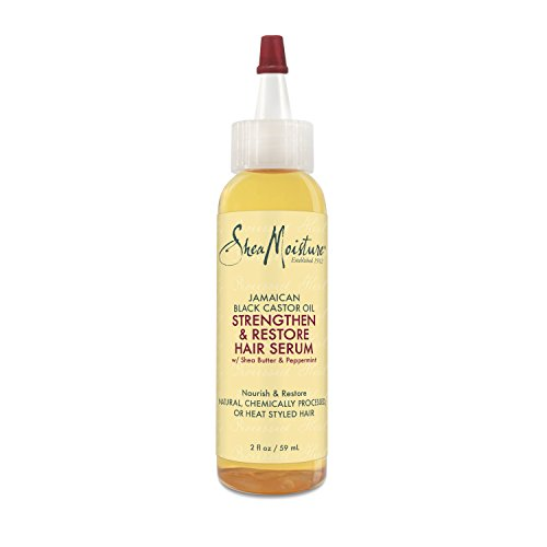 SheaMoisture Jamaican Black Castor Oil Strengthen, Grow & Restore Hair Serum, 2 Ounce (Shea Butter Hair Oil)