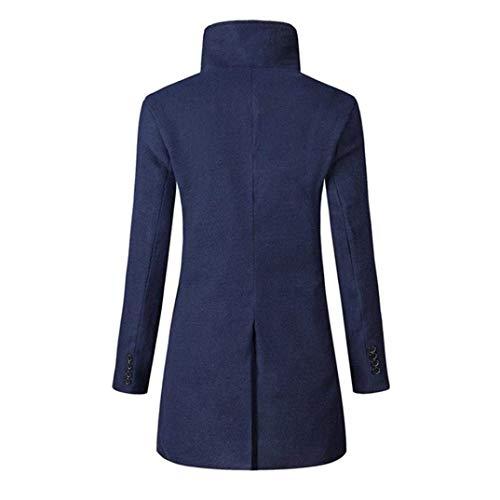Sottile Cappotto Giacca Marino Huixin Lunga Abbigliamento Outwear Tuta Petto Maschile Singola Invernale Calda Manica Sportiva B1wqZB