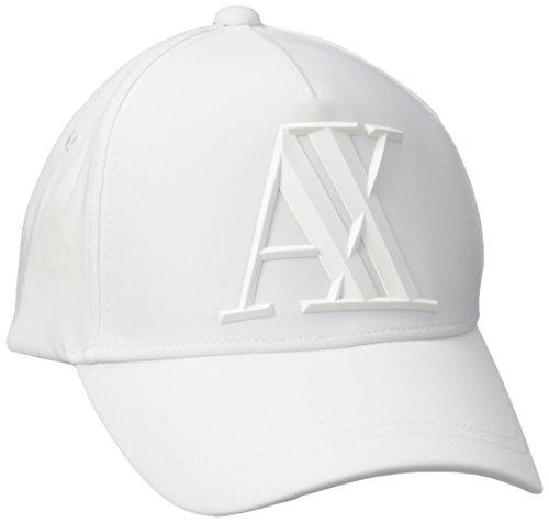 3d Logo Hat - Armani Exchange Men's 3D Rubber Ax Tonal Logo Baseball Hat, White, One Size