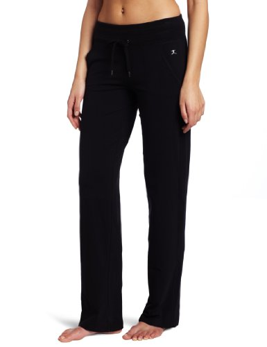 Danskin Women's Drawcord Pant, Black, Large