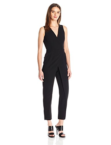 BCBGeneration Women's Vest Jumpsuit, Black, 0