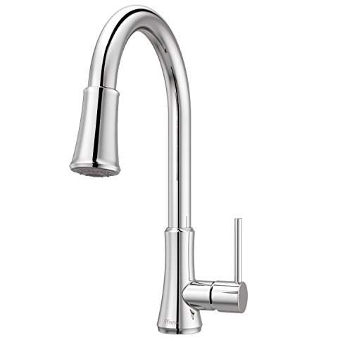 Price Pfister G529PF1C Pfister G529-PF1C Pfirst Series Single Handle Pull-Down Kitchen Faucet in Polished Chrome