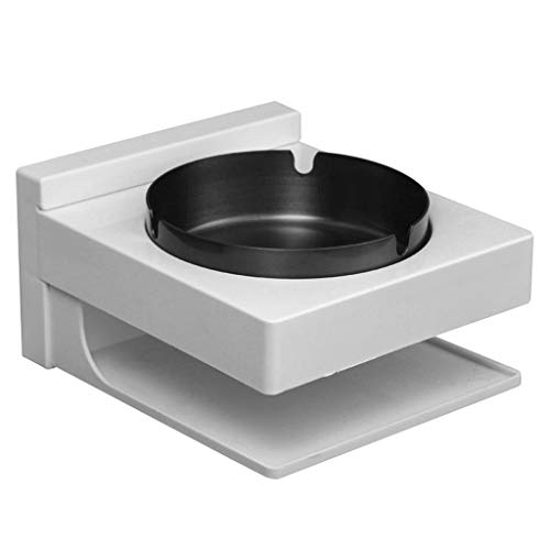 - TONSEE Round Original Stainless Steel Tray Cigaret Wall Mounted Smoking Box for Bedroom,Bathroom Outside Pub Garden Office
