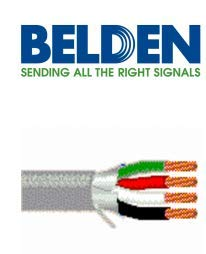 Belden Belden 5302FE Multi-Conductor Riser-CMR Shielded Security and Audio Cable, 300 VAC, (4) 18 AWG Stranded Bare Copper ()