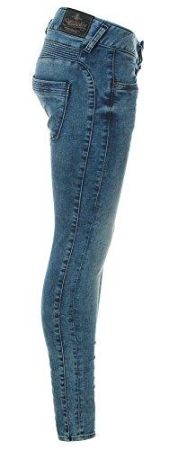 Placid Placid Herrlicher blau blau Jeans Herrlicher Donna Donna Jeans Herrlicher fCqtwUxFt8