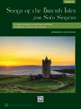 Alfred Songs of the British Isles for Solo Singers Medium Low Voice Book & CD