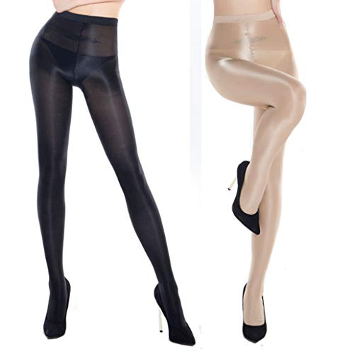 eef5409fc19 lifevv 70D Women s Control Top Dance Tights Ultra Shimmery Plus Footed  Tights Thickness Shine Pantyhose Stockings