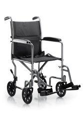 "McKesson Ltwt. Transport Wheelchair Steel 19 Inch Seat Width x 16""D 146-TR39E-SV"