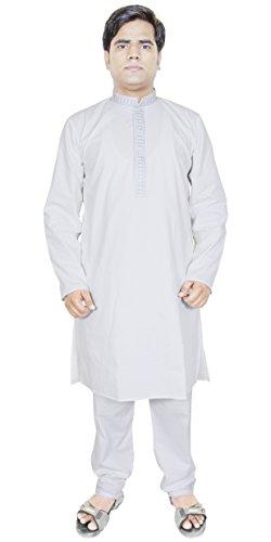 Mens Clothing Kurta Pajama For Party Indian Ethnic Wear White Size M