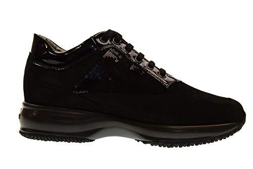 HOGAN basse sneakers H HXW00N0564025Q9999 INTERACTIVE Nero donna MICROPAILL rF4wSxr