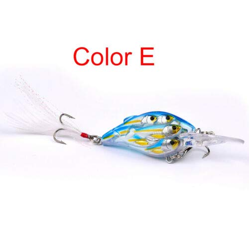 FidgetKute 1PC Live Target Yearling Fishing Lures Jerkbait Bass Hook Crankbait Baits Ball H Color E