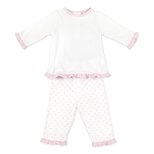 Magnolia Baby Baby Girl Gingham Dots Essentials Ruffle 2pc Pant Set Pink 3 Months