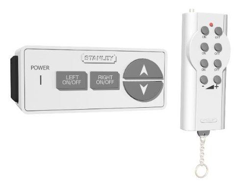 Stanley 31174 Lamp Remote Dimmer Twin, Polarized 2-Outlet Indoor Wireless Dimming Remote Control.