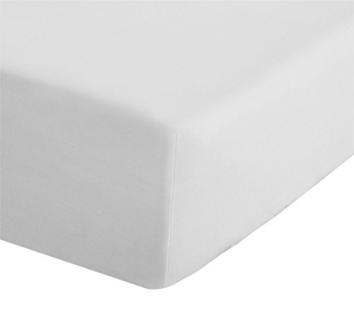 Catherine Lansfield Easy Iron Percale Double Fitted Sheet White