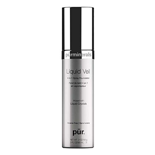 (PÜR Liquid Veil Airbrush Foundation in Light, 3.0 Fluid Ounce )