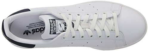 Blanco Unisex Deporte Originals New adidas Stan Smith White Adulto Running Zapatillas Navy de HanXYxw
