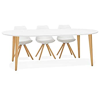 Alterego Table A Diner Ronde Extensible Iglou Style Scandinave