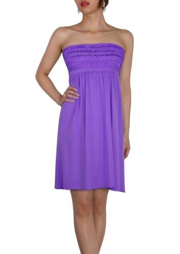 SodaCoda Women's Beach Strapless Summer Dress knee lenght - One size - Purple