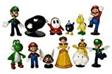 Nintendo Super Mario Brothers - 12 pc Collectible Figure Set OneSize, Multicoloured