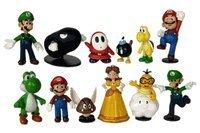 Nintendo Super Mario Brothers - 12 pc Collectible Figure Set OneSize, Multicoloured (Super Marios Brothers)