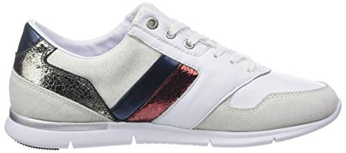 Femme Hilfiger Leather Light Sneakers Basses Tommy Sneaker ZYHaxHw