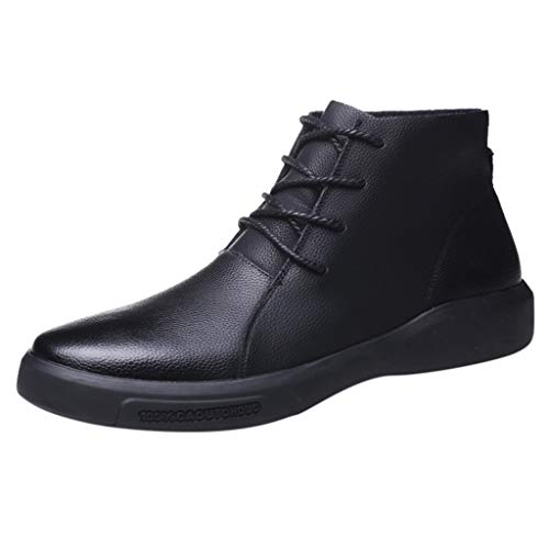 Kstare Men's Tuxedo Oxford Business Strap Slip-On Leather Pointed Toe Formal Wedding Shoes Dress Casual Lace-Up Boots
