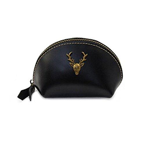 Tefamore Mode Womens Mini Lady Geldbörse Brieftasche Null Brieftasche Handtasche Clutch Schwarz