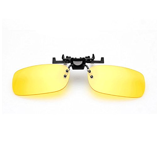 LOMOL Unisex Fashion UV protection Clip-on Flip-up Rectangular Driving Night Vision Goggles - Sunglass Raybon