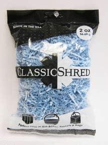 Mayflower 61001 2 oz Paper Shred - Light Blue