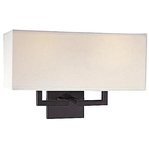 George Kovacs P472-617, Wall Sconce Lighting with Shades, 2 Light, 120 Total Watts, Bronze by Kovacs