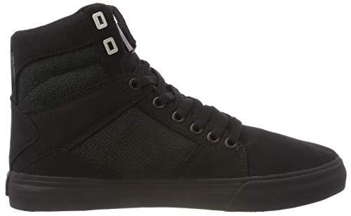 Alto a Sneaker Nero Uomo 001 Black Supra Collo black Aluminum AxqIp4nqa