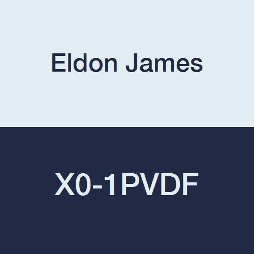 Eldon James X0-1-200PVDF Gray Kynar Cross Connector Fitting, 1/16