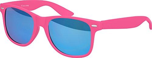 verspiegelt ressort Charnière Nerd choix au Modèles Lunettes haute Rétro Pink mat Gomme Vintage Blau 101 plusieurs à Balinco Unisexe qualité couleurs Soleil De Lunettes wgqAp6