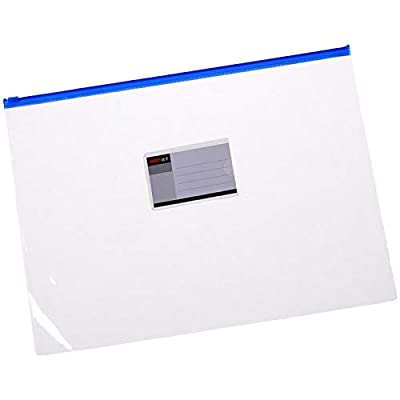 Wankko 24pcs Plastic Poly Zip Envelope File Folder Bags,Letter Size,5 Color